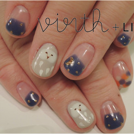 virth+LIM - hand nail フクロウ
