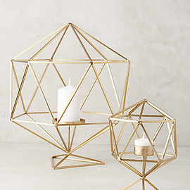 Anthropologie - Hexacut Candleholder