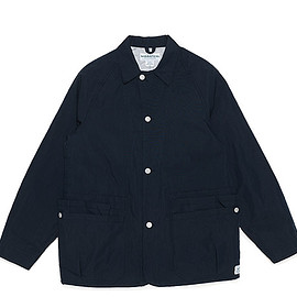 SASSAFRAS - Whole Hole Jacket-Cotton Nylon Oxford-Navy
