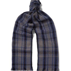 Loro Piana - Checked Baby Cashmere Scarf