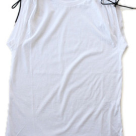 TOGA - String jersey Tank  (white)