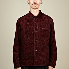 White Mountaineering - Men''s Sulphur Dyed Paisley Pattern Shirt Jacket