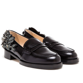 N°21 - Embellished Leather Penny Loafers
