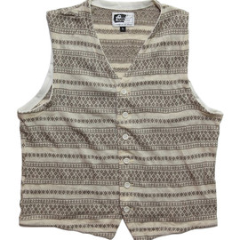Engineered Garments - Knit Vest,Khaki Fair Isle