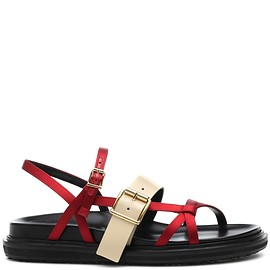 MARNI - Leather-trimmed sandals