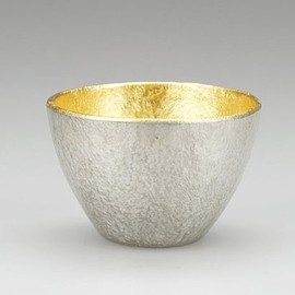 Large Sake Cup [gold], Best Nippon Design, since 1609, Takaoka City, Toyoma Prefecture