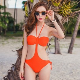 LUXE ASIAN - Luxe Asian Korean Women Fashion Sherbet Orange Bikini