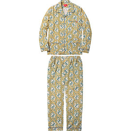 supreme - Paisley Flannel Pajama Set yellow