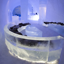 Absolut  - Ice Bar within the Ice Hotel, Jukkasjarvi, Swedden