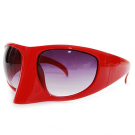 Bernhard Willhelm - Linda Farrow x Bernhard Willhelm Visor Sunglasses RED