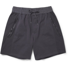 Acne - Arnold Panelled Loopback Cotton-Blend Shorts