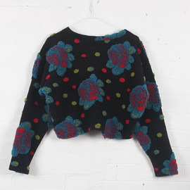 THE WHITEPEPPER - Limited Edition: Floral Crop Pom Pom Jumper