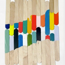 painted popsicle sticks...  :)