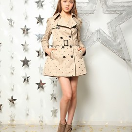 nana nadesico - Dot embroidered trench coat