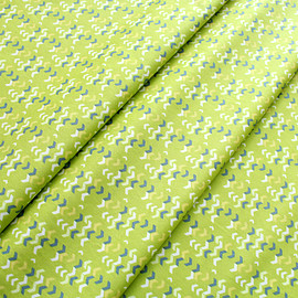 Art Gallery Fabrics - Safari Moon River Shadows Chartreuse