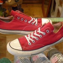 "converse - 「<used>70's converse CHUCK TAYLOR OX red""made in USA"" size:US8(26.5cm) 16800yen」完売"