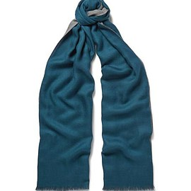 Loro Piana - Cavalry Two-Tone Cashmere and Silk-Blend Scarf