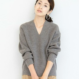 BEAUTY&YOUTH UNITED ARROWS - HAMILTON WOOL MIX アゼVネックニット