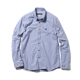 SOPHNET. - MULTI COLOR DOT B.D SHIRT