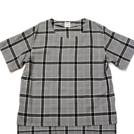 SUNSEA - Rayon check Tee