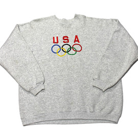 VINTAGE - Vintage 90s USA Olympics Embroidered Crewneck Sweatshirt Mens Size Large