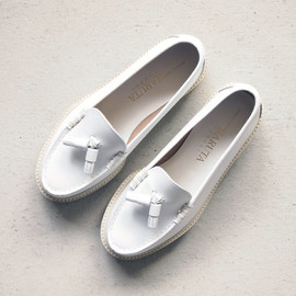 Hender Scheme - modern school shoes ladies #white