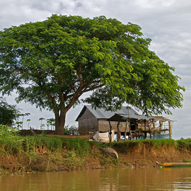 Fine Art America - Home By The River. Photograph  - Home By The River. Fine Art Print