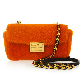 Fendi - Be Baguette mini shearling bag