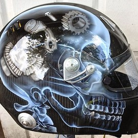 Race helmet custom painting, quality work affordable prices www.airbrushgallery.com