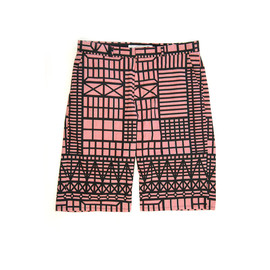 ANREALAGE / アンリアレイジ - BONE FRAME CHECK SHORTS (RED)