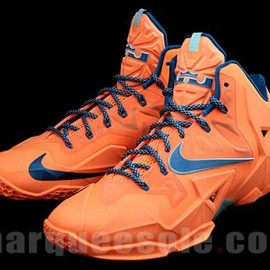 Nike - NIKE LEBRON 11 XDR TEAM ORANGE/ROYAL BLUE-LIGHT BLUE