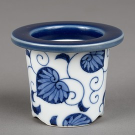 Hollyhocks style - Japanese Arita ware made by 'Shinji Terauchi' All handmade Bonsai plant pot
