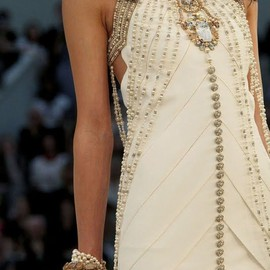 chanel - white pearl dress