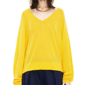 Acne - Once v-neck rayon citrine yellow