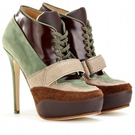 Acne - ACE LACE-UP LEATHER BOOTIES - mytheresa.com GmbH