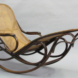 gebrüder thonet - rocking chaise with adjustable back, model 7500