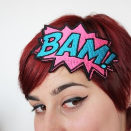 Janine Basil - Bam! embroidered headband
