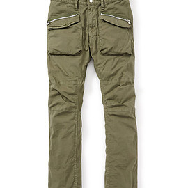 nonnative - TROOPER PANTS C/P RIPSTOP STRETCH OVERDYED