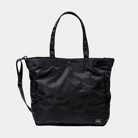STUSSY, PORTER - 2 Way Tote Bag - Black/Olive