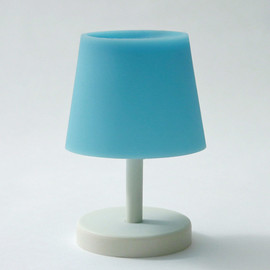 CEMENT PRODUCE DESIGN, Glow in the lamp - blue