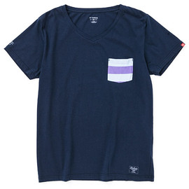 "BEDWIN - V-NECK POCKET T ""ZIENTARA"""