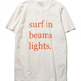 CUISSE DE GRENOUILLE - CUISSE DE GRENOUILLE×BEAMS LIGHTS / 40th別注 サーフプリントTシャツ