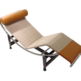 Cassina - Le Corbusier Chaise Longue (Natural Leather) by Le Corbusier,Pierre Jeanneret & Charlotte Perriand