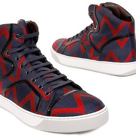 LANVIN - silk zigzag print sneakers for spring/summer 2010