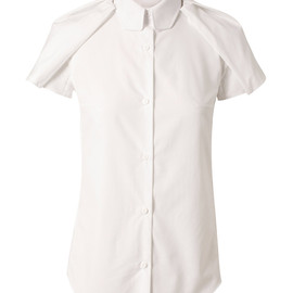 CARVEN - TAILORED COTTON SHIRT WITH EPAULETTE WINGS