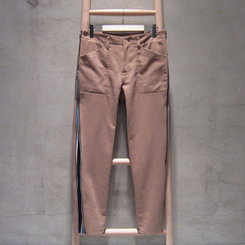 SUNSEA - Chino&Stripe Pano Pants