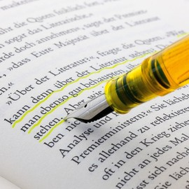 Fountain Pen with Highlighter Ink