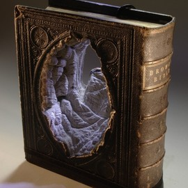 Guy Laramee - New Carved Book Landscapes by Guy Laramee