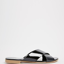 ASOS - Pieces Cross Strap Flat Sandals