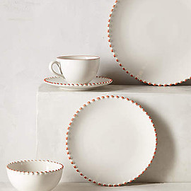anthropologie - Pearl-Drop Bowl and plate